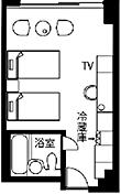 エコノミールーム 洋室