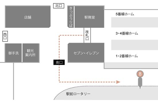 修善寺駅案内図